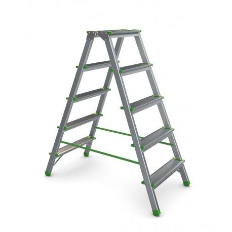 Beidseitige Stufenstehleiter 2x5 Sprossen