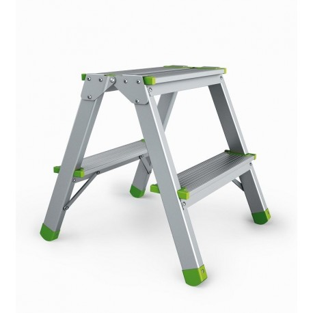 Beidseitige Stufenstehleiter 2x2 Sprossen