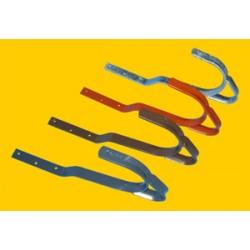 Dachhaken für Ziegel- und Pfannenabdeckung (Stahl verzinkt) 2 Stück
