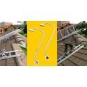 Firsthaltebügel / Firstüberwurfbügel / Firstbügel / Firsthaken  für Dachleiter (1 Paar)